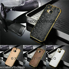 Premium Diamond Style Gold Plating Back Cover Case for HTC One M8