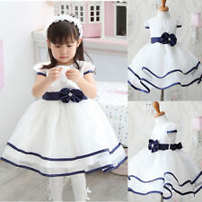 Extremely Cheap New Baby Girl Kid Clothing Party Wedding White Short Prom Dress
