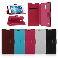 Leather Wallet Stand Flip Card Slot Case Cover For Samsung Galaxy Core Lite LTE