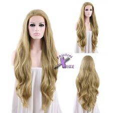 """18""""-28"""" Long Wavy Ash Blonde Lace Front Synthetic Wig"""