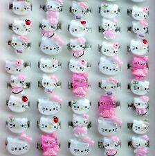 Wholesale Lots mixed 50pcs cartoon kitty Fashion resin Children's/kids rings 008