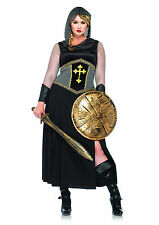 Womens Joan Of Arc Medieval Knight Warrior Outfit Halloween Costume PLUS SIZE