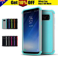 Hybrid Heavy Duty Hard Tough Armor Case Cover For Samsung Galaxy S5 S6 S7 edge