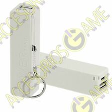BATERIA EXTERNA POWER BANK 2600 MAH PORTATIL UNIVERSAL MOVIL PORTABLE BLANCO