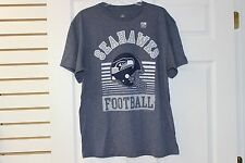 Seattle Seahawks Team Apparel T-Shirt Navy With Light Grey Lettering Big Logo