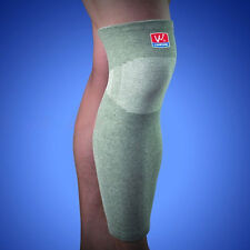 Elastic Compression Leg Knee Sleeve Calf Shin Support Brace Protective Gear Gray