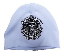Sons of Anarchy Embroidered Reaper Cogwheel Light Blue Baby Beanie Hat