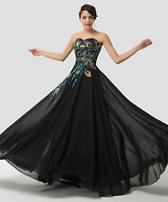 Elegant Strapless Long Masquerade Bridesmaid Prom Party Ball Gown Evening Dress