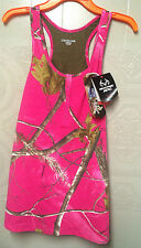 NEW!!! Realtree Women's HOT Pink Camouflage Tank Halter Top SM, MED, LG, XL
