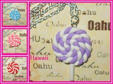 4 FLAVOR LolliPop Charm Kawaii Candy Silver Plated 16 18 inch Necklaces*USA MADE