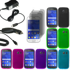 Crystal TPU Gel Skin Case For Samsung Galaxy Ace Style 3x LCD Car Home Charger