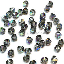 3mm Black Diamond AB (215 AB) Swarovski crystal 5328 / 5301 Loose Bicone Beads