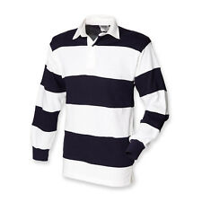 Front Row Mens Sewn stripe Long Sleeve rugby shirt