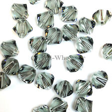 5mm Black Diamond (215) Genuine Swarovski crystal 5328 / 5301 Loose Bicone Beads