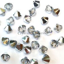 5mm Crystal Comet Argent Light (001 CAL) Swarovski 5328 / 5301 Bicone Beads