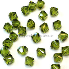 5mm Olivine (228) Genuine Swarovski crystal 5328 / 5301 Loose Bicone Beads