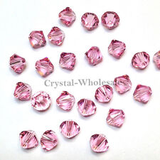 6mm Light Rose (223) Genuine Swarovski crystal 5328 / 5301 Loose Bicone Beads