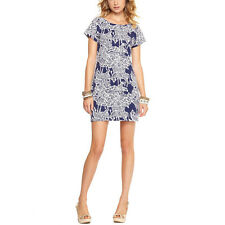 Lilly Pulitzer Bright Navy I Herd You Anastasia V-Back Tunic Dress M L New