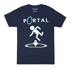 Portal This Way Officially Licensed Adult T-shirt - Blue