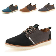 New Men's Stylish Casual Flat Shoes LACE UP Frosted Sneakers loafer shoes