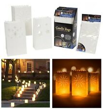 PAPER TEALIGHT CANDLE LANTERN BAGS GARDEN WEDDING XMAS NIGHT PARTY FAVOURS