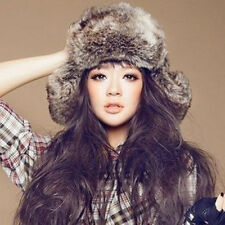 Fashion Mens Ladies Warm Winter Faux Fur Russian Style Trapper Hat  Outdoor Hat