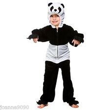 KIDS GIANT CHINESE PANDA BEAR WILD ANIMAL FANCY DRESS COSTUME ONESIE BOOK WEEK