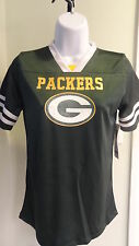 New NFL Team Apparel Juniors Green Bay Packers Sparkly Fashion Jersey - S - L