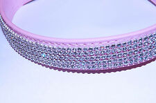 "Pet Palace ""Diva Doggy"" Pink Diamante Dog Collar Leather FREE FIRST CLASS POST"