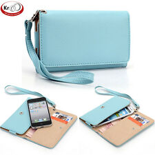 Universal Smart Phone Wallet Cover w/ Strap for Samsung Galaxy S Relay 4G