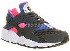 NEW NIKE AIR HUARACHE WOMENS TRAINERS DARK MAGNET GREY PINK COBALT 634835 046