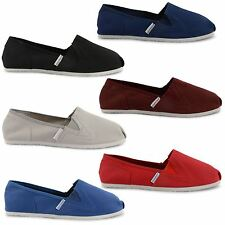 NEW MENS CANVAS PLIMSOLLS PUMPS SLIP ON ESPADRILLES FLAT TRAINERS UK SIZE 6-11