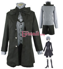 Unsex Black Butler Ciel Phantomhive Black demon Suit Outfit Cosplay costume