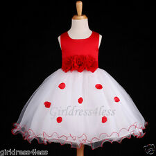 CHRISTMAS RED HOLIDAY PARTY WEDDING FLOWER GIRL DRESS 6M 12M 18M 2 3/4 5/6 8 10