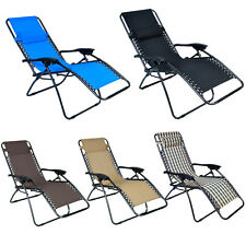 Folding Lounge Chairs Recliner Zero Gravity Outdoor Beach Patio Garden 5 Color