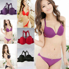 Womens Sexy Fashion Front Closure Lace Racer Back Push Up Seamless Bra Racerbac