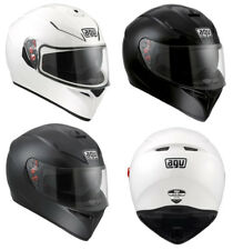 AGV K3 SV DVS FULL FACE MOTORCYCLE HELMET PLAIN BLACK, WHITE, MATT BLACK - NEW