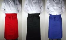 Hard Yakka Chef Bistro Waiter Bar Pub Cafe Long Full Waist Apron Red/Black/Blue