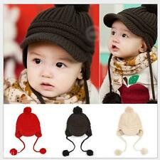 New Baby Girls Boys Kids Unisex Double Balls Style Fall Winter Warm Knitted Cap