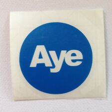 "Vote Yes ""Aye"" Scottish Independence 4 Vinyl Stickers - Multi Colour listing"