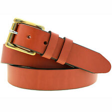 "Orion Leather 1 1/4"" Chestnut English Bridle Leather Belt Nickel-Free"