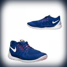 Nike Mens Free 5.0 Deep Royal Blue/Black/White/Hyper Punch 642198-402