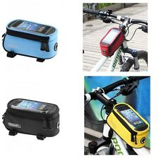 Roswheel Mountain Bike Bicycle Frame Front Top Tube Bag Pannier for Mobile Phone