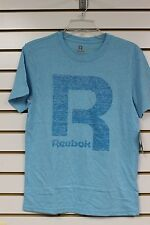 Reebok Boy's Blue Fish T-Shirt With Big R Graphic Size S-L Brand New With Tags
