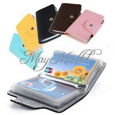 Practical PU Leather Business Credit ID Card Holder Case Wallet for 24 Cards G