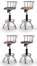 FC29 CHROME METAL SWIVEL THEMED SEAT ADJUSTABLE 24 29 INCH BAR STOOLS KITCHEN