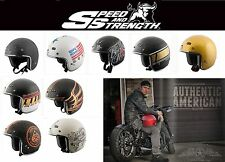 Speed & Strength SS600 3/4 Helmet Open Face Cafe Racer Bobber Vintage Motorcycle