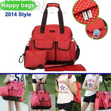 New Fashion pretty Baby Diaper Nappy Bag Backpack mummy bag red/  black / orange