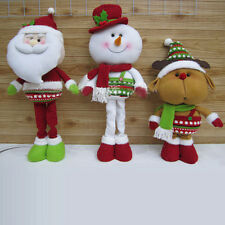 New Christmas Gift Fabric Santa Claus& Snowman &Elk Christmas Doll Ornaments