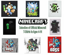 New Kids Official Minecraft T-shirt tshirts Creeper Steve Sword Enderman Jinx